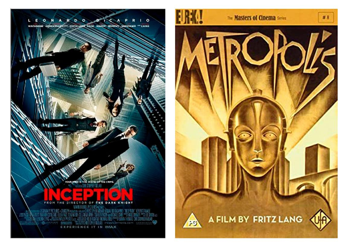 Inception and Metropolis movie cover